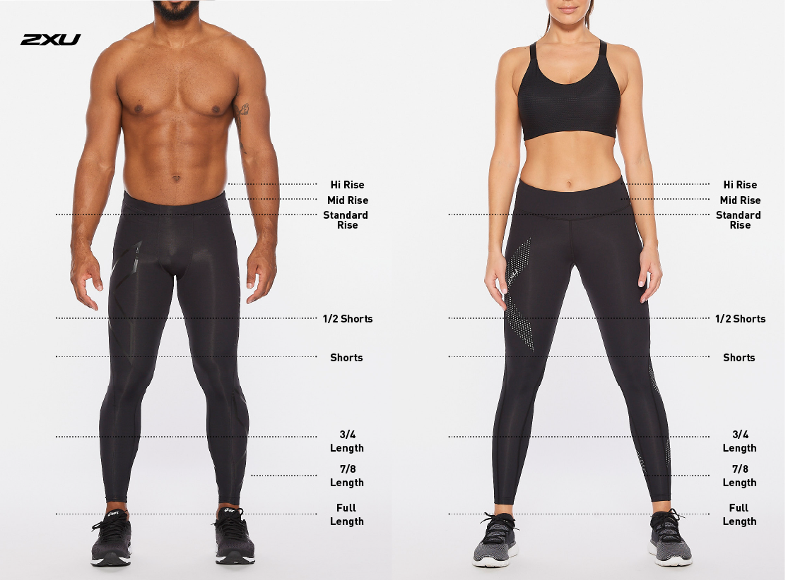 Size Guide 2XU Tights